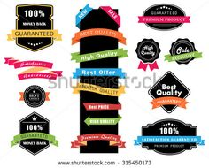 This image is a vector file representing Labels, Banners and Stickers collection set./Labels, Banners and Stickers/Labels, Banners and Stickers