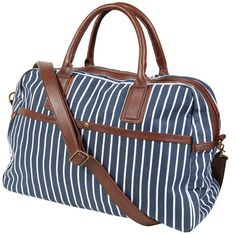 Forever 21 Striped Canvas Duffle