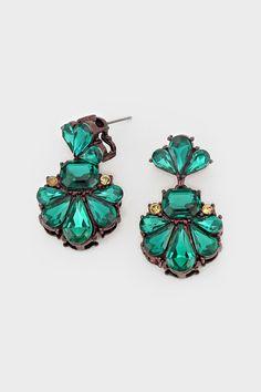 Effie Earrings in Emerald