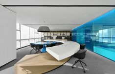 PONE ARCHITECTURE completed the design for the Poly offices located in the central business district of Wuhan, China. Poly plans to develop a central Wuhan, Architecture Office, Architecture Design, Innovative Office, Coworking Space, Modern Buildings, Office Interiors, Interior Office, Interior Design Living Room