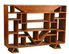 Cubist Room Divider/Bookcase att. to Jacques Adnet, c. 1930s