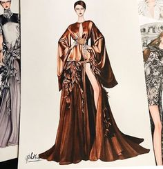 Inspired by Haute Couture spring 2018 Such a wonderful d. - Inspired by Haute Couture spring 2018 Such a wonderful d… - Dress Design Sketches, Fashion Design Sketchbook, Fashion Design Drawings, Fashion Sketches, Dress Designs, Drawing Sketches, Drawing Art, Fashion Drawing Dresses, Fashion Illustration Dresses