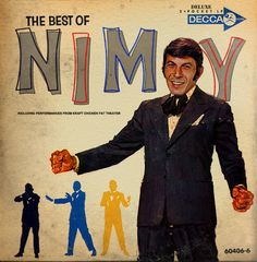 "Fake cover for the nonexistent album, ""The Best of Nimoy"" Lp Cover, Vinyl Cover, Cover Art, Smooth Jazz, Vinyl Cd, Vinyl Records, Tim & Eric, Worst Album Covers, Book Covers"