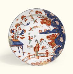 A large Dutch Delft doré dish, early 18th century | lot | Sotheby's
