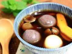 姜汁桂圆黑糖汤圆