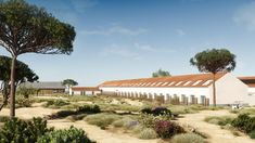 A new sustainable project by renowned Portuguese architect Miguel Câncio Martins. Set on a 17-hectare estate, surrounded by umbrella pines and cork trees, wild sand dunes, rice fields and nearly 40 miles of white-sand beaches, the hotel has whitewashed walls and cool-toned touches.