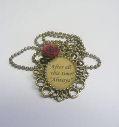 Severus Snape Inspired 'Always' Necklace - Harry Potter, Severus Snape. £13.99, via Etsy.