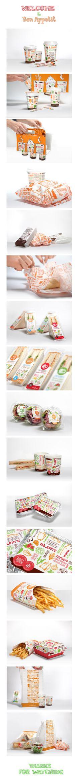 Packaging design for Hot Cafe on Behance