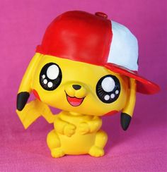 Littlest Pet Shop Pokemon PIKACHU w/ Ash's hat OOAK Custom Figure Hamster ASH #Hasbro