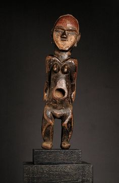 Africa | Female figure from the Ambete people of Gabon or DR Congo | Wood and paint | Early 20th century