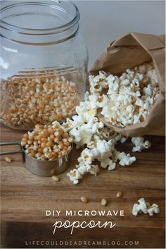 Did you know you can make your own microwave popcorn instead of buying the more expensive, chemical filled stuff at the store?
