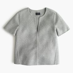 J Crew Collection double-faced cashmere top