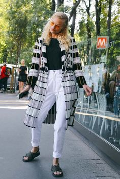 Frederikke Sofie spotted on the street at Milan Fashion Week. Photographed by Phil Oh.