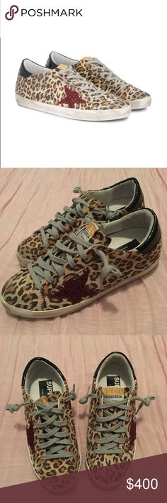 0400ed03078e3 Golden Goose Deluxe Brand Superstar Golden Goose Deluxe Brand Superstar  Size 36 Leopard suede with red