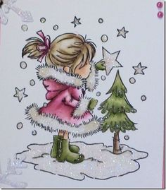 love the coloring and the glitter - bjl