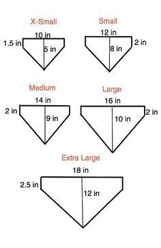 DIY doggie Bandana sizes chart you can sew yourself out of scrap materials.