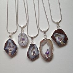 Image of Crystal Cave Necklace {sterling silver}