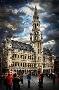 This is The Grand Place in Brussels. It's a central square. Its located in the very core of the town. It's revealed as you enter from one of six narrow side alley.