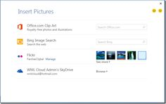 How To Add Images From Flickr And SkyDrive To MS Word 2013