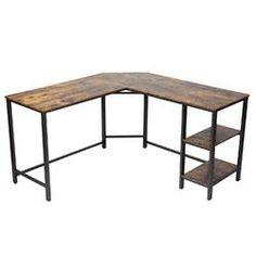 Beachcrest Home Cyra L Shaped Desk & Reviews | Wayfair Home Office Desks, Office Decor, Office Ideas, L Shaped Executive Desk, Desk Hutch, Etagere Bookcase, Best Desk, L Shaped Desk, Small Office