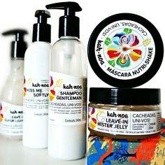 No Poo e Low Poo com Kah-Noa produtos naturais para cabelos cacheados resenha