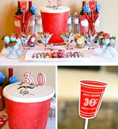 28 Birthday Party Ideas for Adults (30, 40, 50, 60) via Tip Junkie