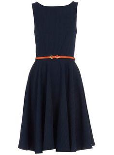 Navy Linen Dress.