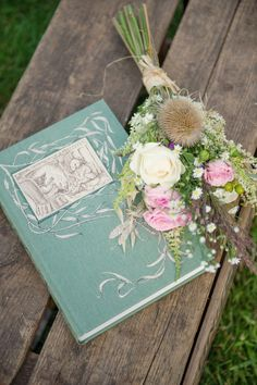 A wind in the willows inspired wedding, featuring a wedding dress by Claire Pettibone and a flowergirl dress by Nicki Macfarlane - both supplied by Serendipity Brides of Northants