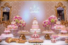 41 Ideas Birthday Girl Pink Princess Theme For 2019 Princess Theme, Baby Shower Princess, Princess Birthday, Baby Birthday, 1st Birthday Parties, Pink Princess, Baby Shower Centerpieces, Baby Shower Decorations, Birthday Decorations