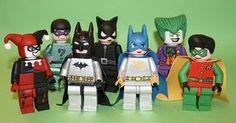 Edible Lego batman minifigures!