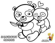 Mothers Day Coloring Page of Momma and Baby Panda Bears. You Can Print Out This #Mothers_Day #Coloring-Page Now... http://www.yescoloring.com/images/06_coloring_page_mothers_day_coloring-pages-books-for-kids-boys.gif