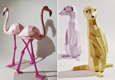 My Owl Barn: DIY Geometric Paper Sculptures by Paperwolf