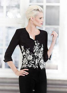 Beautiful embroidered blazer. KRISS Sweden design Sweden, Blazer, Blouse, Spring, Long Sleeve, Sleeves, Beautiful, Tops, Design