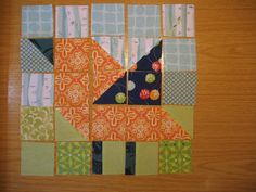 Bird pieced quilt block