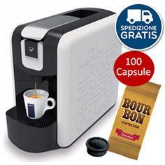 MACCHINA CAFFÉ LAVAZZA ESPRESSO POINT MINI + 100 CAPSULE BOURBON CLASSICO