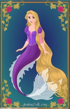 Rapunzel as a Mermaid Yesterday I was bored.so I wanted to create the disney princesses as mermaids with the heroine creator by azalea dolls: [link] T. Disney Princesses As Mermaids, Rapunzel Disney, Disney Amor, Mermaid Disney, Princesa Disney, Mermaid Princess, Arte Disney, Disney Dolls, Mermaid Art