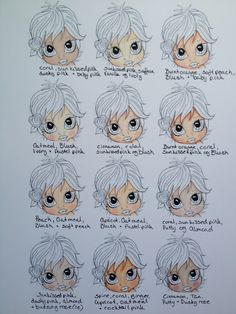 Skin colours. Good site for promarker tutorials