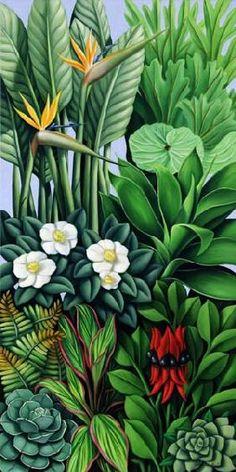 Abel, Catherine  : Foliage II, 2005 (oil on c...