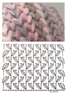 Diy Crafts - High quality crochet patterns and intricate and pretty crochet products for sale Crochet Motifs, Crochet Diagram, Crochet Stitches Patterns, Crochet Chart, Diy Crochet, Knitting Stitches, Stitch Patterns, Knitting Patterns, Crochet Videos