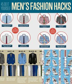 45 DIY Men's Fashion Hacks | Fashion Tips for Men