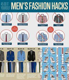 DIY Fashion Ideas! 45 DIY Men's Fashion Hacks| Fashion Tips for Menhttp://diyready.com/45-diy-mens-fashion-hacks/