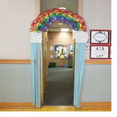 Rainbow Door Decoration Idea - OrientalTrading.com