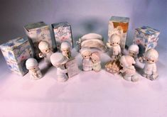 Vintage Precious Moments 12 Pieces  Sugar Town Series , Conductor, Aunt Ruth & Aunt Dorothy, Donny,  Bridge,  Dr. Sam, Grandfather.  Boxes! by VintageQualityFinds on Etsy