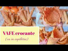 Rețetă simplă de VAFE CROCANTE (ca în copilărie)    🍪 Dulcinele 🍪 - YouTube Frozen Yogurt, Smoothie, Caramel, Ice Cream, Breakfast, Youtube, Blog, Sticky Toffee, No Churn Ice Cream