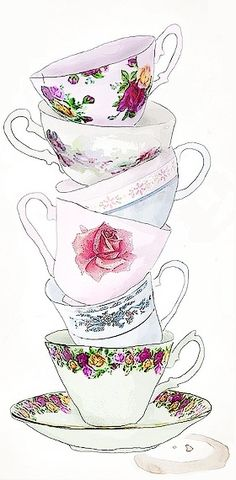 cups. I like sweet delicate cups I like none of them matching. A cup of tea, a quilt, a candle, a book makes my soul purr!