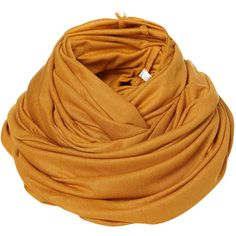 Ochre Grunge Jersey Snood found on Polyvore