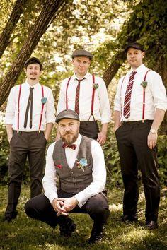 Handsome Men Looks with Suspenders (14)