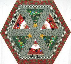 tree quilt patterns   Q157/MR-157 Dance Santa, Dance