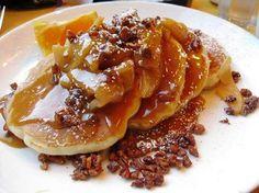 Mouth watering toffee apple pancakes #prizepancake #pancakes