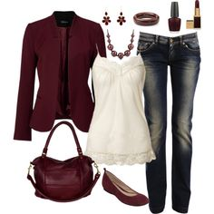 """""""Casual Outfit"""" by masilly1 on Polyvore. I like everything except for the jacket"""